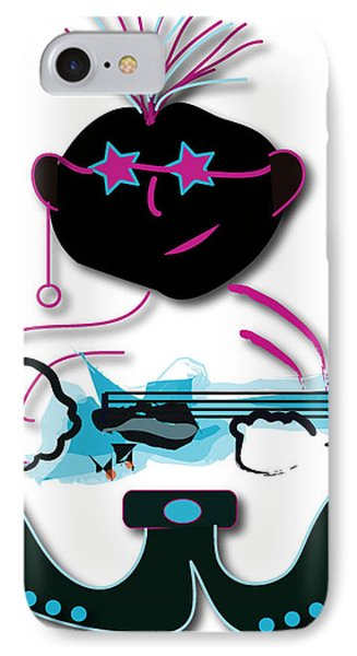 IPhone Case featuring the digital art Bass Man by Marvin Blaine