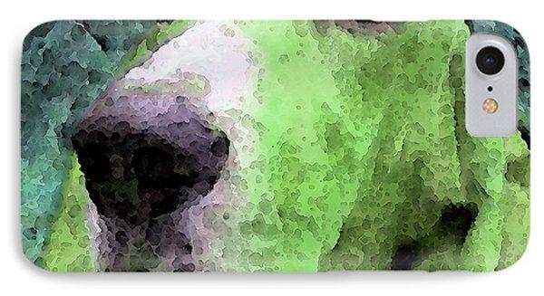 Basset Hound - Pop Art Green Phone Case by Sharon Cummings