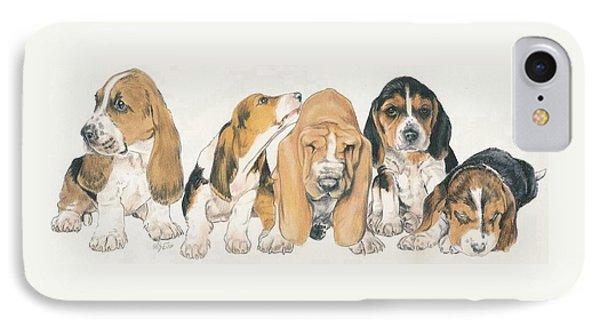 Basset Hound Puppies Phone Case by Barbara Keith