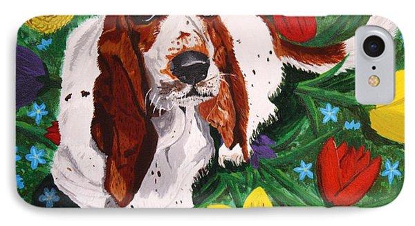 Basset Hound Phone Case by Vicki Maheu