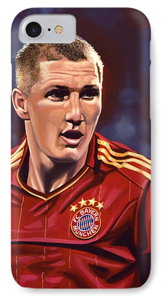 Bastian Schweinsteiger IPhone Case by Paul Meijering