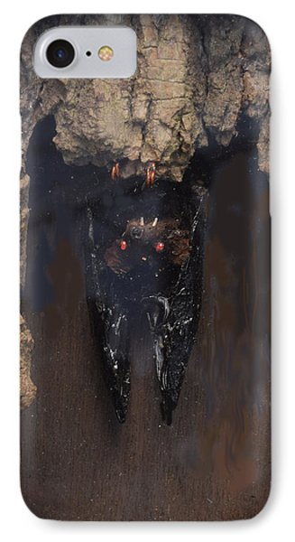 Bat In A Cave IPhone Case by R  Allen Swezey