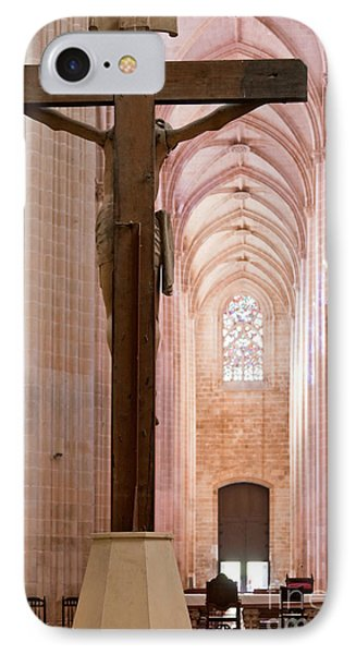 Batalha Monastery Altar Crucifix IPhone Case by Jose Elias - Sofia Pereira