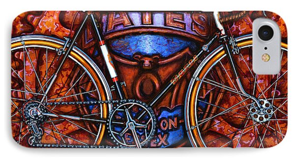 IPhone Case featuring the painting Bates Bicycle by Mark Howard Jones