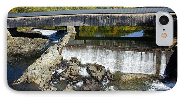 Bath Haverhill Covered Bridge In Autumn IPhone Case