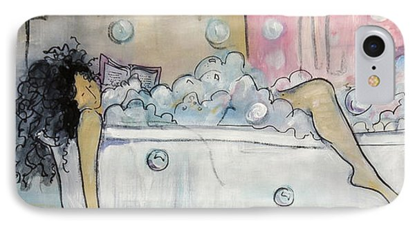Bath Time IPhone Case by Leela Payne