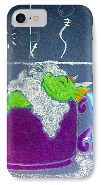 IPhone Case featuring the pastel Bath Time by Wendy Coulson