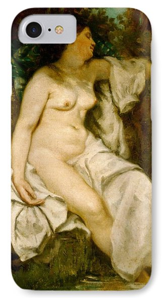Bather Sleeping By A Brook Phone Case by Gustave Courbet
