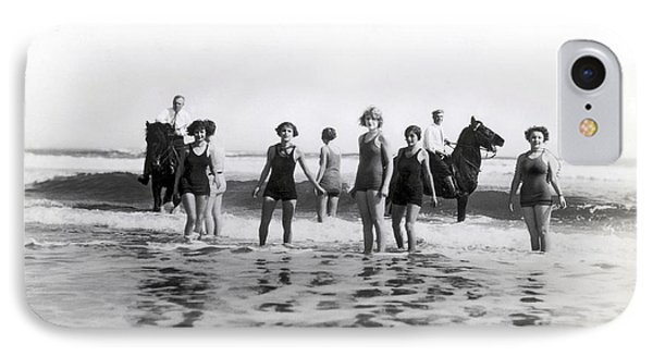 Bathers And Horses In The Surf IPhone Case