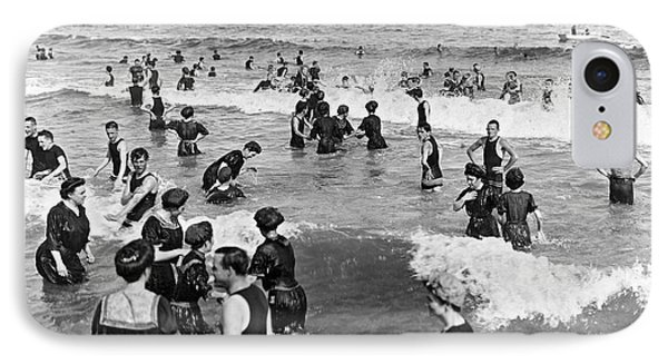 Bathers At Atlantic City Baech IPhone Case