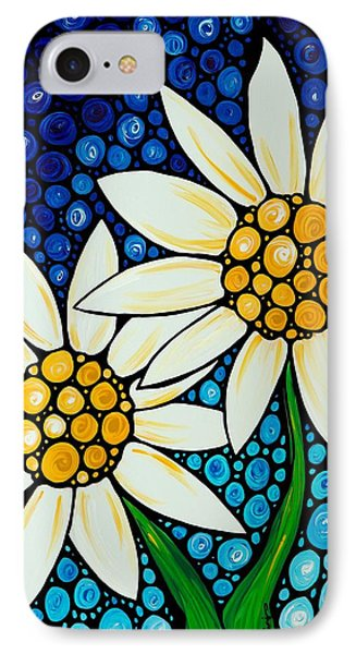 Daisy iPhone 7 Case - Bathing Beauties - Daisy Art By Sharon Cummings by Sharon Cummings