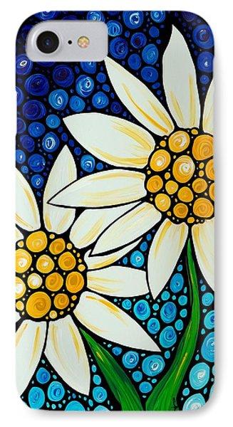 Bathing Beauties - Daisy Art By Sharon Cummings IPhone 7 Case by Sharon Cummings