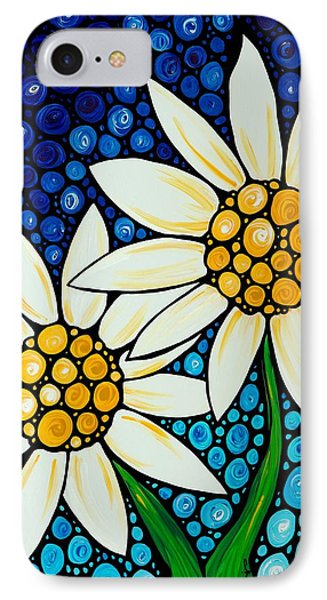 Bathing Beauties - Daisy Art By Sharon Cummings IPhone Case by Sharon Cummings