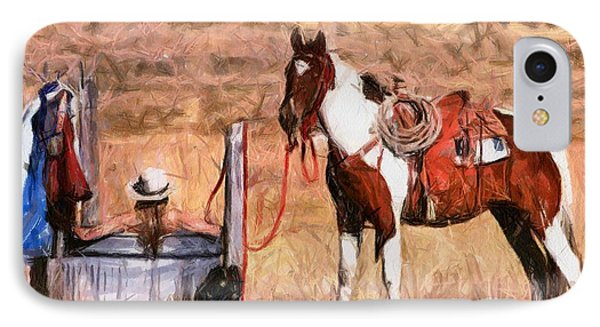 Bathing Cowgirl Phone Case by Murphy Elliott