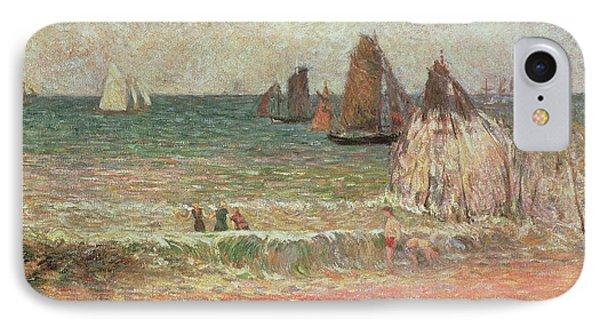 Bathing Dieppe IPhone Case by Paul Gauguin