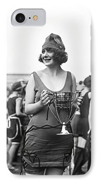 Bathing Suit Winner IPhone Case by Underwood Archives