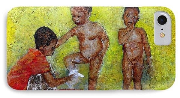 Bathing Time IPhone Case by Ronex Ahimbisibwe