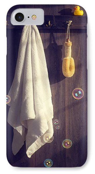 Bathroom Towel IPhone Case by Amanda Elwell