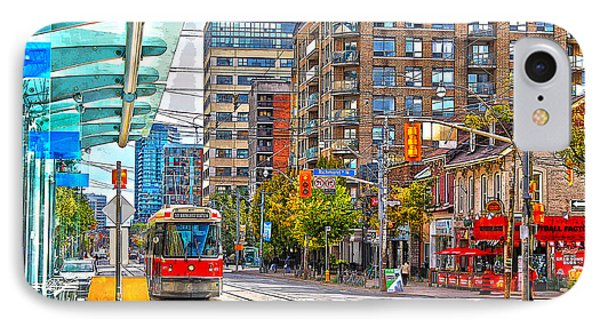 Bathurst Street Car Coming North To Queen Street IPhone Case by Nina Silver