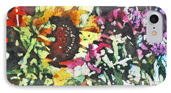 Batik Sunflower 1 IPhone Case
