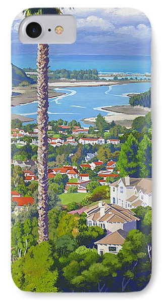 Pacific Ocean iPhone 7 Case - Batiquitos Lagoon 2014 by Mary Helmreich