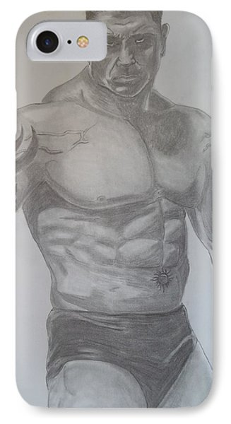 IPhone Case featuring the drawing Batista by Justin Moore