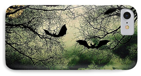 Bats From Hell IPhone Case by Barbara S Nickerson