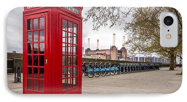 Battersea Phone Box IPhone Case by Matt Malloy