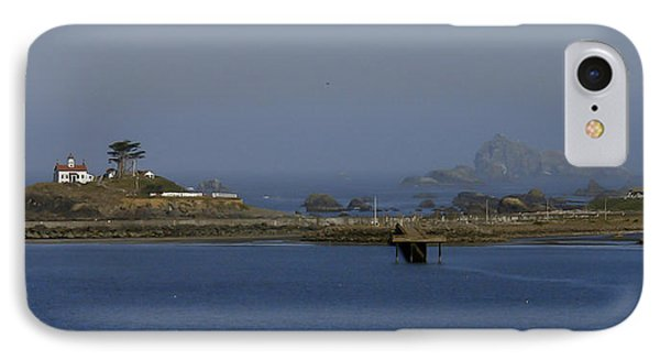Battery Point Lighthouse And Castle Rock IPhone Case by Betty Depee