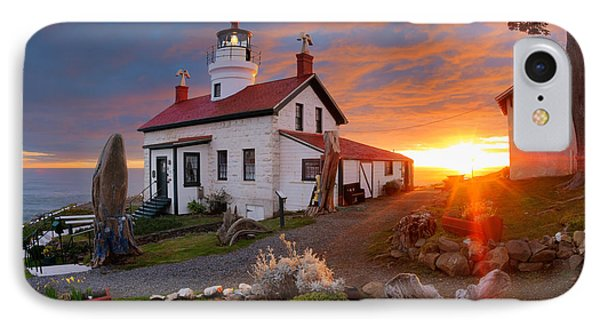 Battery Point Lighthouse IPhone Case by Leland D Howard