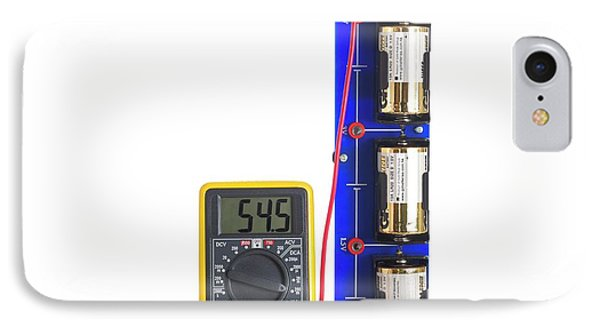 Battery Test Circuit IPhone Case by Science Photo Library