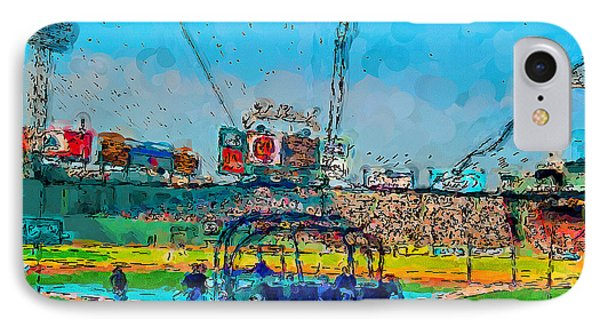 Batting Cage Fenway IPhone Case by John Farr