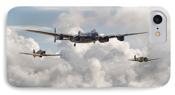 Battle Of Britain - Memorial Flight IPhone Case by Pat Speirs