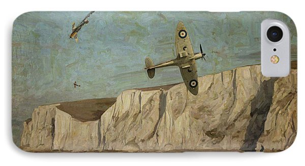 IPhone Case featuring the painting Battle Of Britain Over Dover by Nop Briex