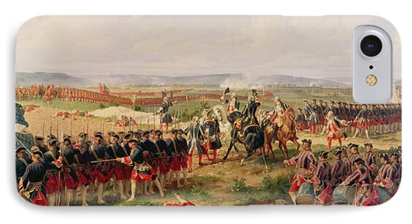 Swallow iPhone 7 Case - Battle Of Fontenoy, 11 May 1745 The French And Allies Confronting Each Other by Felix Philippoteaux