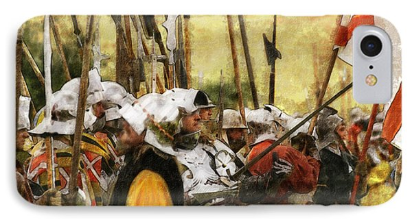 Battle Of Tewkesbury IPhone Case by Ron Harpham