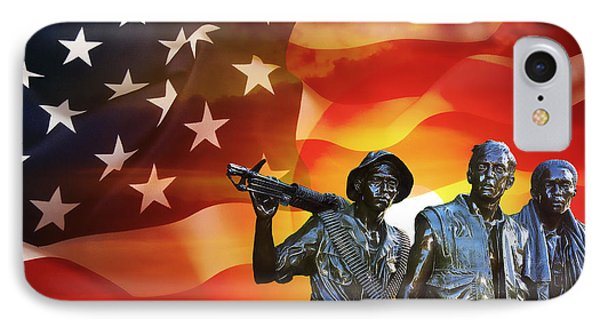 Battle Veterans Of The United States IPhone Case by Daniel Hagerman