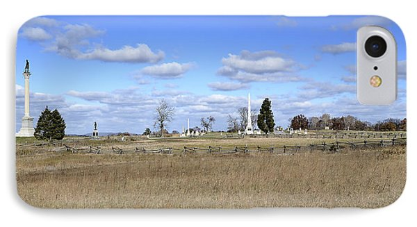 Battlefield At Gettysburg National Military Park IPhone Case by Brendan Reals