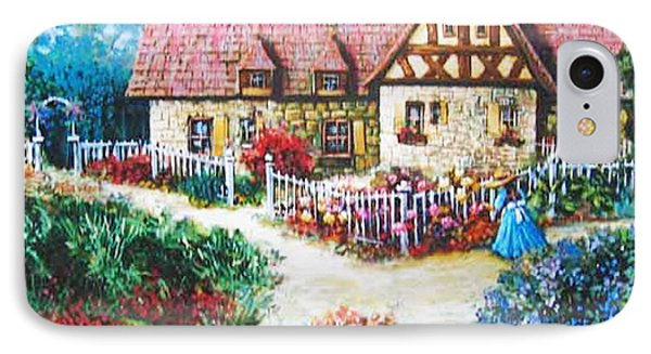 IPhone Case featuring the painting Bavarian Cottage by Cheryl Del Toro