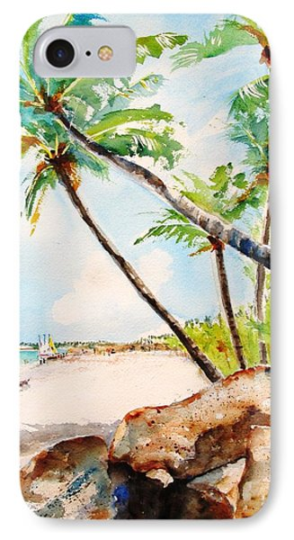 Bavaro Tropical Sandy Beach IPhone Case by Carlin Blahnik