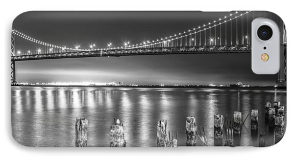 Bay Bridge Black And White IPhone Case by Robert  Aycock