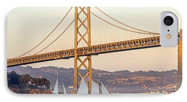 Bay Bridge Gold Phone Case by Kate Brown