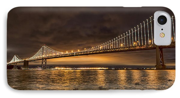 Bay Bridge Lights IPhone Case by Judy Wolinsky