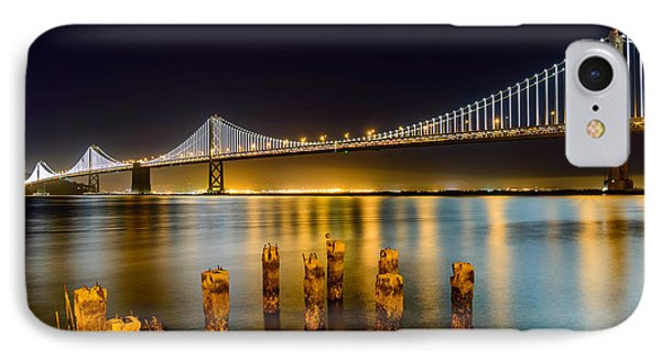 Bay Bridge IPhone Case by Mike Ronnebeck