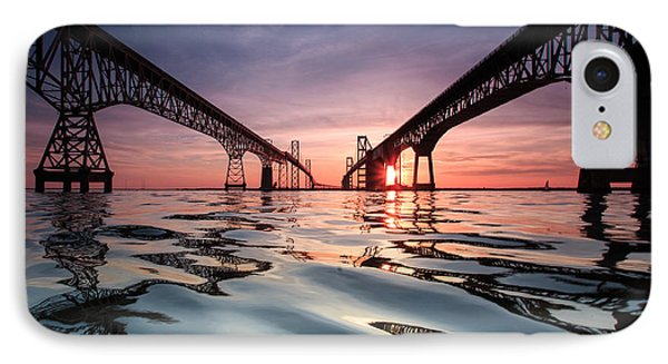 IPhone Case featuring the photograph Bay Bridge Reflections by Jennifer Casey