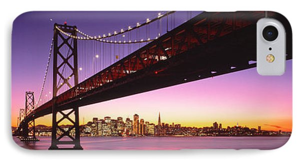 Bay Bridge San Francisco Ca Usa IPhone Case by Panoramic Images