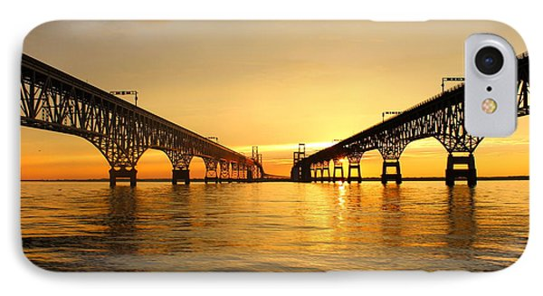 Bay Bridge Sunset IPhone Case by Jennifer Casey