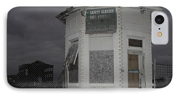 Bay City American Hoist Guard House IPhone Case by Erick Schmidt
