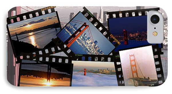 IPhone Case featuring the photograph Golden Gate Collage by Christopher McKenzie