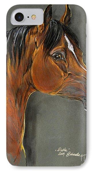 Bay Horse Portrait Phone Case by Angel  Tarantella